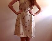 SALE: Light Green Floral Tea Dress
