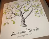 Custom Drawn Thumbprint Guestbook