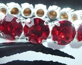 Swarovski Crystal Siam Red Bracelet - 8mm Round
