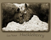 Bulls butting heads Card, western funny quote Huckleberry stationery  Congrats Friends quotes
