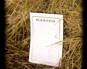 6x9 WANTED notepad, stationary,  old western item-stationery