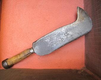 Serpe sickle Antique French Ash handle / primitive tool / winemaker sickle