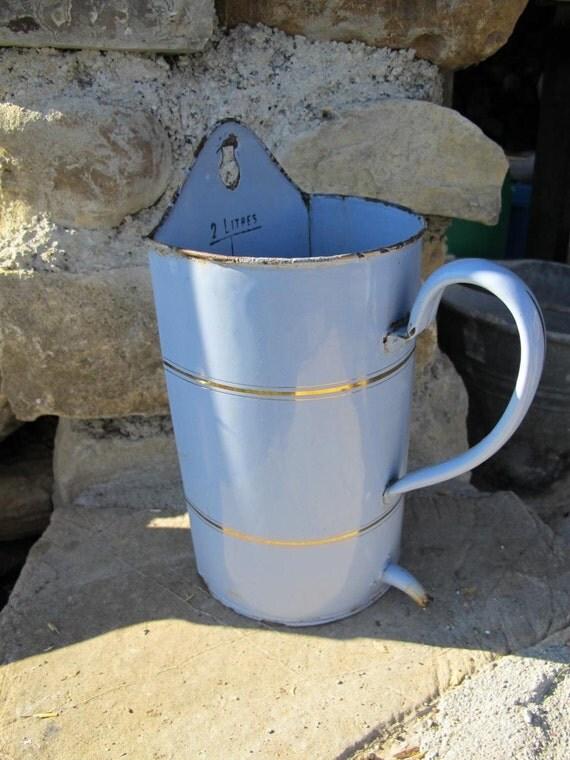 Enamelware irrigator Vintage French