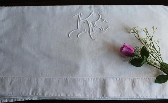 Metis Sheet Vintage French with monogram RS