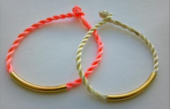 Spring Trend NEON PASTEL Twisted Cord Friendship Bracelet