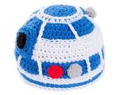 Crochet R2D2 Inspired Beanie