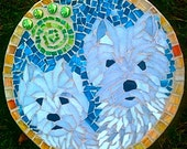 Custom Order Pet Portrait Mosaic Stepping Stone