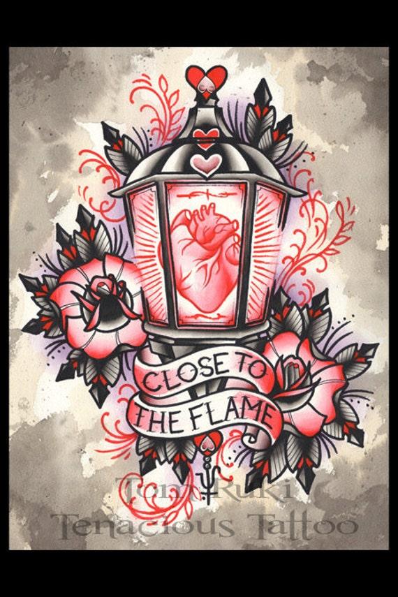 Valentine Lantern Tom Ruki Tattoo Print
