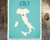 Italy Custom Wedding Print Destination Wedding Gift Memento Marriage Couple print Signature Guest Books Wedding Signature Map
