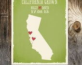 California Custom Wedding Print - Geography Love Collection - US States Map