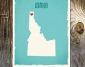 Idaho USA state Custom Wedding Print Destination Wedding Gift  Memento Marriage Couple print Signature Guest Books Wedding Signature Map