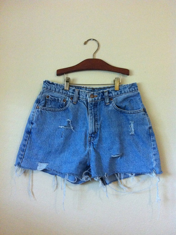 VIntage Distressed High Waisted Levis