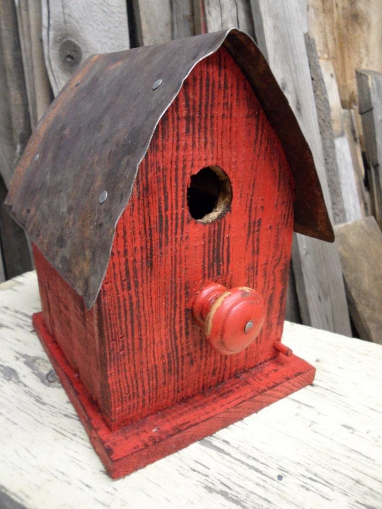 Barn Birdhouse Rustic Wooden Birdhouse Functional Birdhouse