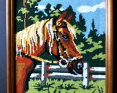Handstitched Picture of Horse