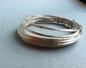 Square silver wire. 20 gauge, 15 feet.