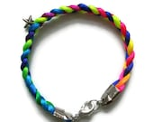 Braided bracelet with star charm (avail. in various colors)