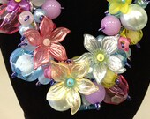 Chunky Lucite Flower Necklace