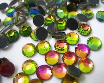 ss20 Vitrail Heat Fix Rhinestones, 5mm Vitrail Hot Fix Crystals, Rainbow Vitrail Rhinestone 20ss Hot-Fix Glass Crystals, 1 Gross (144 Count)