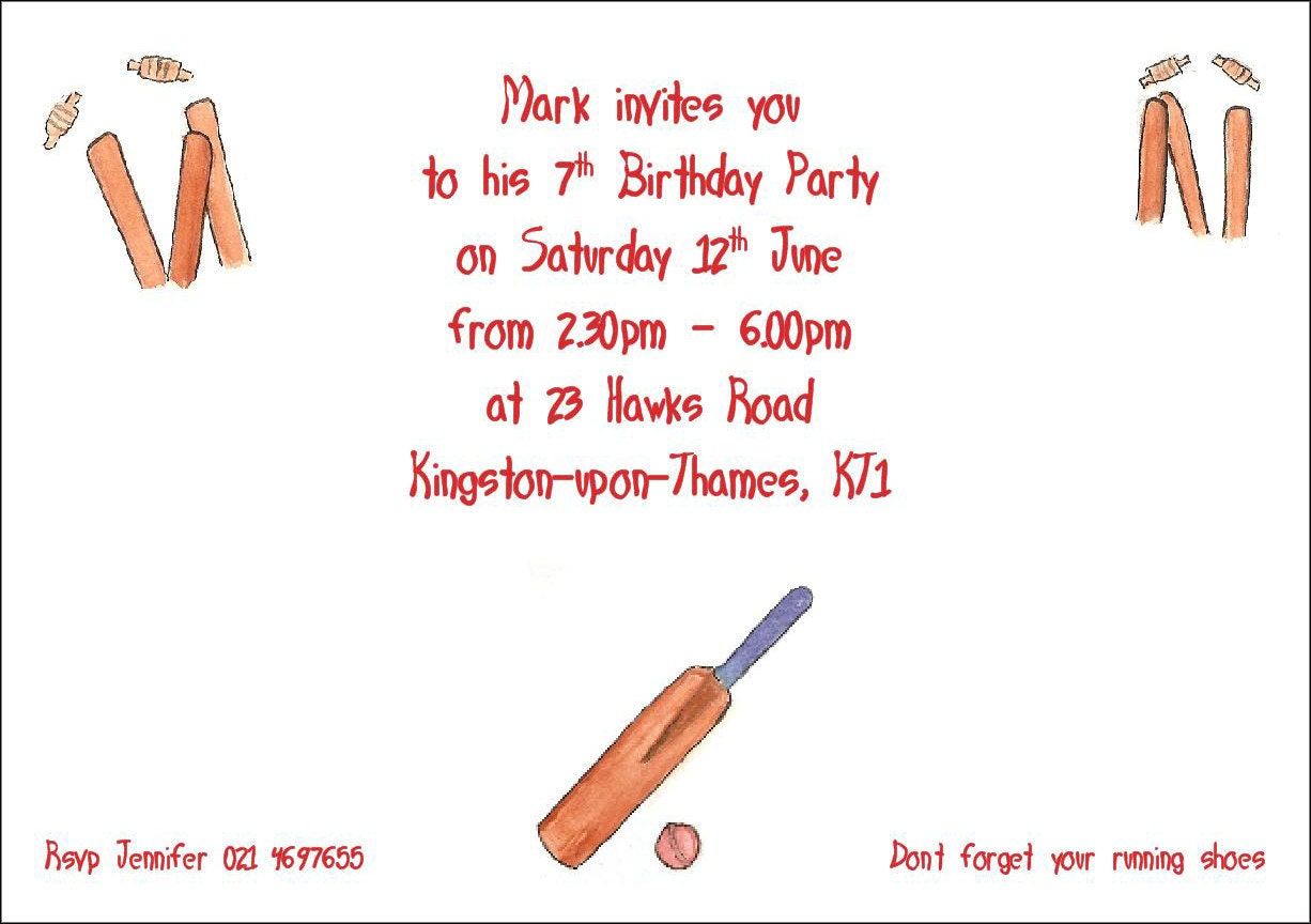 8 Personalized Birthday Party Invitations for boys