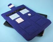 Doctor Who Tardis IPAD/Tablet Sleeve Police Call Box with Pocket