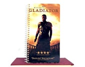 Recycled Notebook From Gladiator VHS Movie Cover - Spiral Bound - Upcycled Repurposed