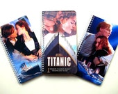 Recycled Notebooks Crafted From Titanic VHS Covers Set of 3 - Upcycled Spiral Bound Journal