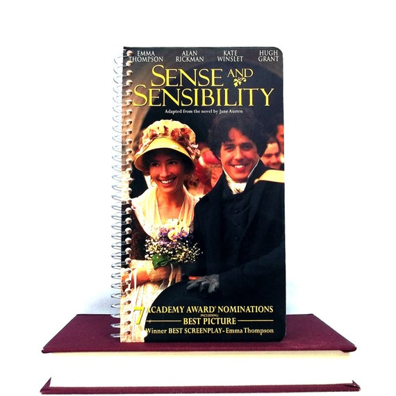 Recycled Notebook From Sense and Sensibility VHS Cover