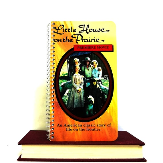 Upcycled Journal From Little House on the Prairie VHS Cover - Spiral Bound Notebook