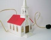 Vintage Christmas Church - Electric, 1950s