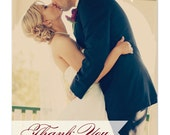 100 Wedding Photo Thank You Cards w/ Envelopes