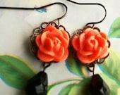 Flower Earrings, Bridal Earrings, Bridesmaid Jewelry, Bridesmaid Earrings, Bridal Jewelry Gifts, Summer Fashion