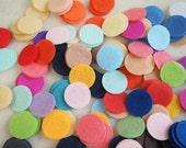 100 Felt Circles - 1.5 inches 50 Colors