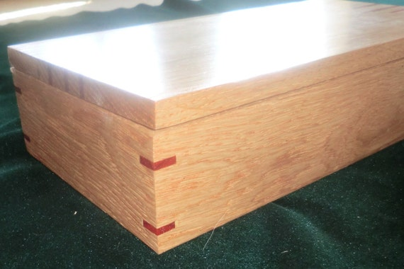 White Oak & Padauk Jewelry Treasure Box