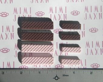 Kawaii Polymer Clay Miniature Wafer Cookies Set 8pcs