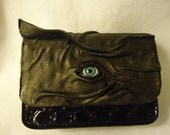 Leather Purse Clutch Goth Halloween Witch Wiccan Pagan