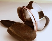 Anticlastic Siver Bracelet with Copper Inlay - Custom Piece