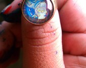 "Adjustable art ring ""I Remember"" -FREE SHIPPING"
