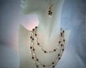 Ruby and Pearl Rope Necklace