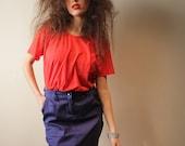 Snap Snap Skirt, Blue Pencil Skirt, Women Skirt