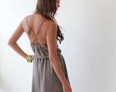 Taupe , Ballerina , Sweetheart Neck , Women Dress