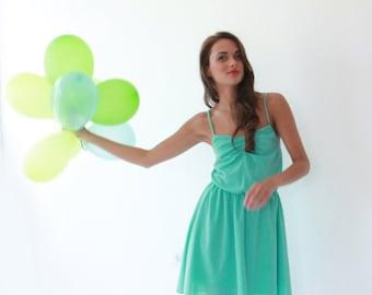 Ballerina mini mint dress , Prom mini dress