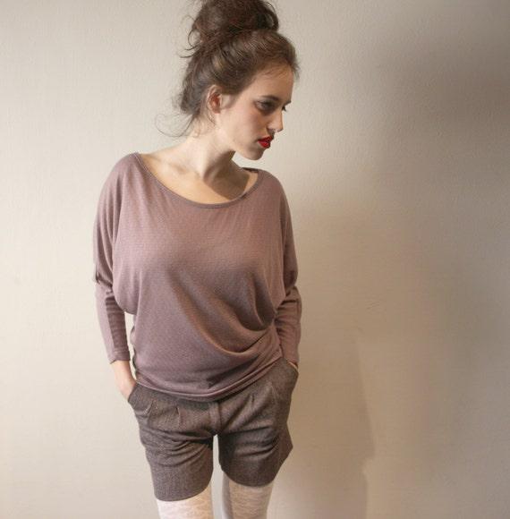 Women Purple Top, Long Sleeve Top