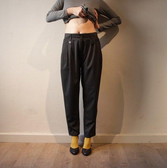 Sale 25% OFF Black Pants Women, High Waist Pants, Women Trousers