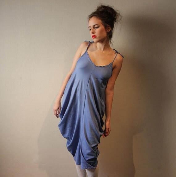 Spaghetti Straps Dress , Women , Blue Dress