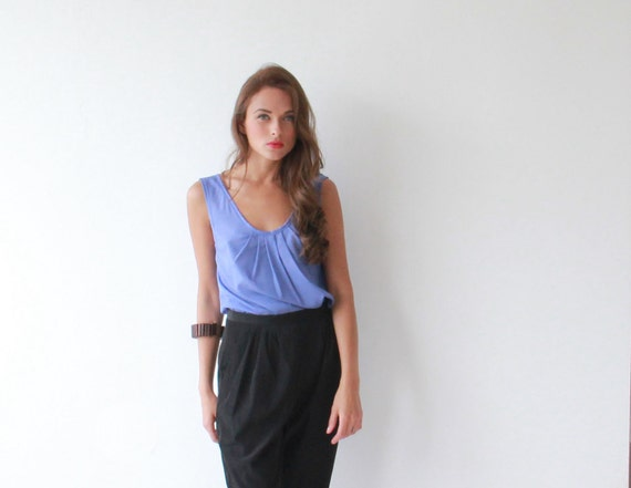 Women , Pleated , Blue shirt