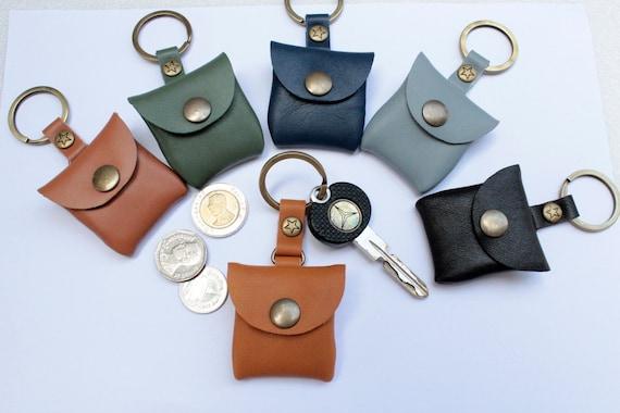 Mini purse Leather Key chain