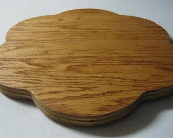 Wood Lazy Susan Flower - Oak faced plywood