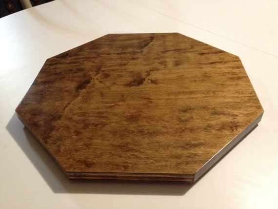 Metal Faced Plywood ~ Wood lazy susan octagon birch faced plywood