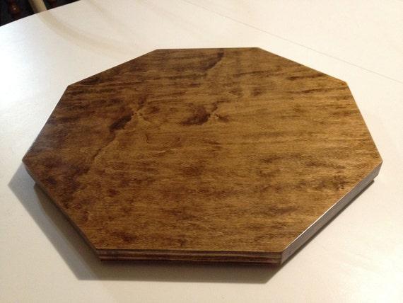 Wood lazy susan octagon birch faced plywood
