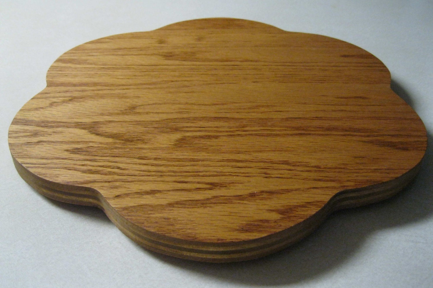 Metal Faced Plywood ~ Wood lazy susan flower oak faced plywood